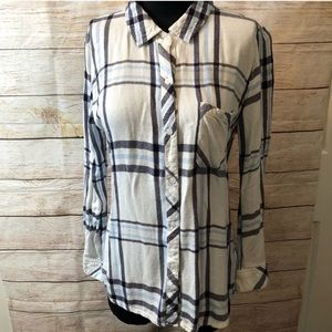 Rails Blue and a White shirt size Large